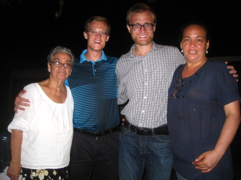 Doña Nubia, Daniel, myself, and Maria Los Angeles