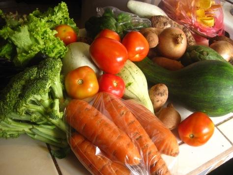 green market veggies