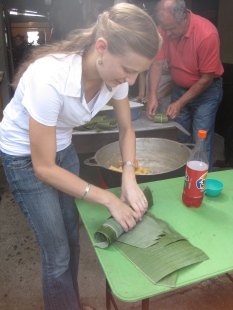 We got to learn how to prepare the leaves, how to stuff and tie them correctly, and the cooking process for the ingredients.