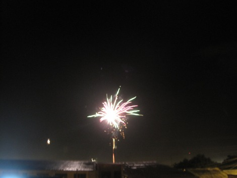 Christmas eve fireworks. The pictures never do fireworks justice!