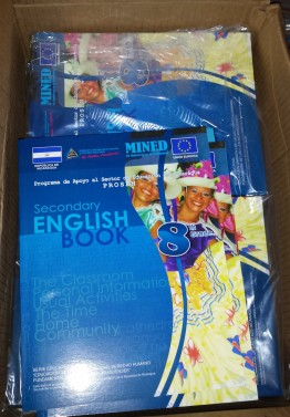 Here are what the 8th grade English books look like. They have books for the 7th-10th grade English classes.