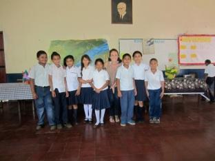 PCV Tara and students
