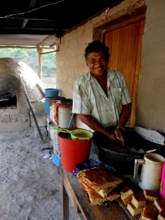 """A man making cuajada (soft cheese) isn't a common site and Chico almost didn't let me take a photo of him."" - Alba"