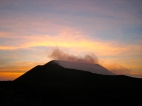 Sunset over Volcán Telica