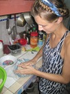 Learning to make tortillas, Nica style!