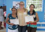 Anna and two women who had completed the partera training and were recieving their certificates.