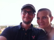 Caressa and Tim in Granada, his favorite place to visit in Nicaragua.