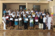 One of several midwife registration trainings they've completed. Each group trains midwives from rural communities over 5 months and now they have trained nearly 180 midwives.