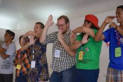 Silly songs at ACCESS Camp