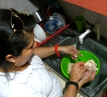 Good friends help each other make tortillas by #hand. #peacecorpsnicaragua #BAphotochallenge #bloggingabroad