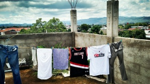 Rooftop #laundry in between rain storms. Couldn't ask for a better view. #peacecorpsnicaragua #peacecorps #ripcity #blazers #bloggingabroad #BAphotochallenge