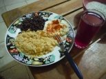 During our 3 months of Peace Corps training, Andrew and I lived with separate host families. In addition to helping with Spanish and other cultural aspects, they kept us well fed. Rice, beans, eggs, and hibiscus tea were simple, yet delicious staples. #peacecorpsnicaragua #peacecorps #WhatsForDinner #tédejamaica #bloggingabroad #BAphotochallenge #howiseepc #food