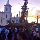 Sunrise procession to the Esteli Cathedral. Approximately 73% of Nicaraguans are Catholic and another 15% attend various evangelical churches. It's facinating to see #religion through new eyes. #peacecorpsnicaragu #peacecorps #mytown #eyeofthebeholder #howiseepc #bloggingabroad #BAphotochallenge #nofilter