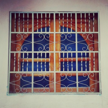 I love how bars on a #window aren't just for protection. Creativity and beauty abound. #peacecorpsnicaragua #peacecorps #mytown #eyeofthebeholder #howiseepc #bloggingabroad #BAphotochallenge